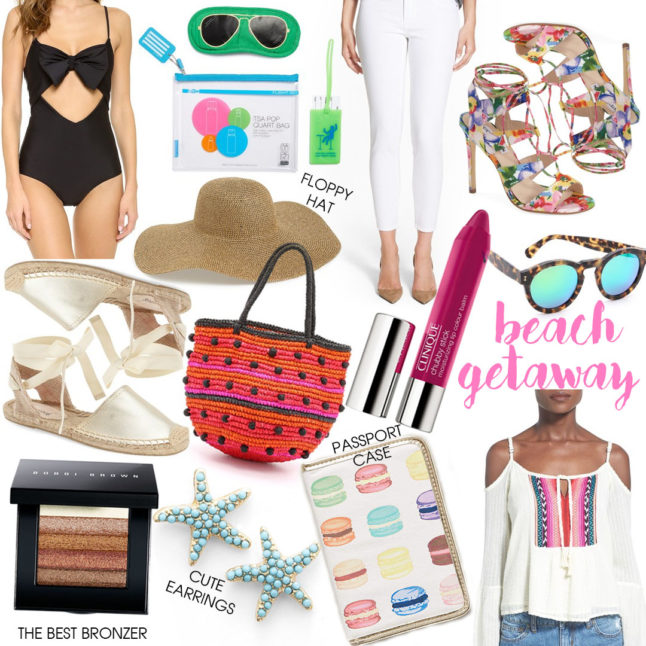 Beach Getaway Packing List - our favorite things to pack on a beach getaway |adoubledose.com