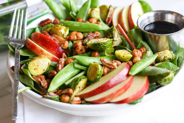 Crunch Winter Salad with Crisp Snap Peas, Fresh Apples, and Roasted ...