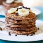 Fluffy, Gluten-Free Banana Chocolate Chip Pancakes