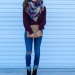 Burgundy Cowl Neck Sweater