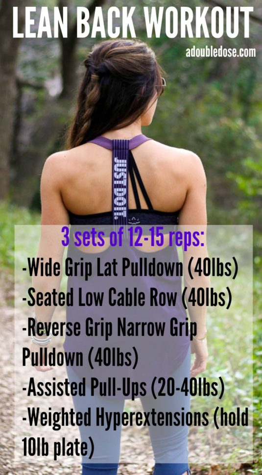 Back Workout - Double Dose of Fitness | adoubledose.com