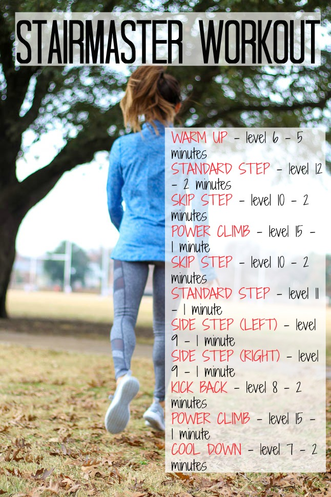 Stairmaster Workout - Double Dose of Fitness | adoubledose.com