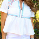 Must Have Embroidered Top For Spring