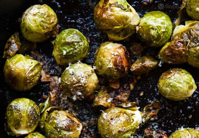 Roasted Brussels Sprouts - A Double Dose Of Fitness | adoubledose.com