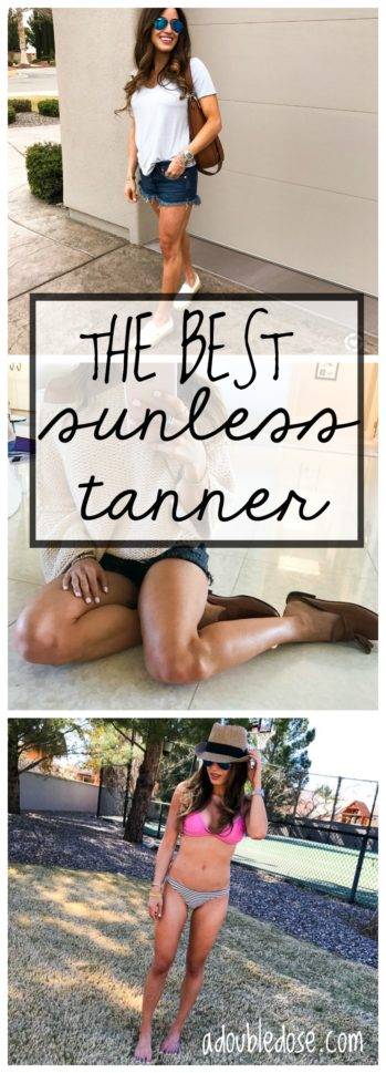 Our Favorite Sunless Tanner | adoubledose.com