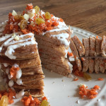 Fluffy Carrot Cake Pancakes- Grain & Gluten Free! You can enjoy these fluffy carrot cake pancakes any time of day! They're guilt-free since they're packed with nutrient-rich foods like carrots and loaded with protein and fiber! | Double Dose FItness