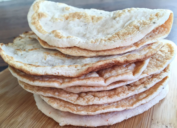 Grain Free Tortillas- These are SO easy to make, and won't leave you feeling like you ate a tortilla. Plus, these are packed with protein and can be used to make tacos, enchiladas, buns, and wraps! | Double Dose Fitness
