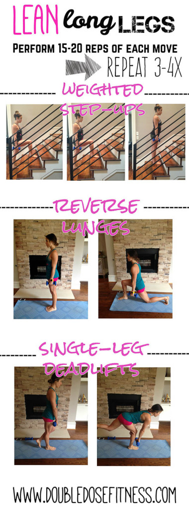 Lean Long Legs- a quick and easy at-home leg workout that can be done anywhere! | Double Dose Fitness