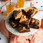 Halloween Cheesecake Swirl Bars