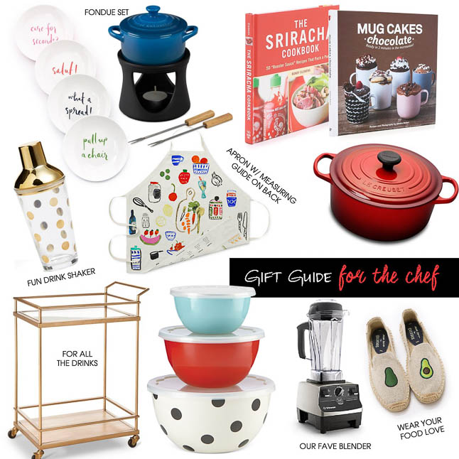 Workout Holiday Gift Guide - The perfect gift ideas for the chefs in your life   adoubledose.com