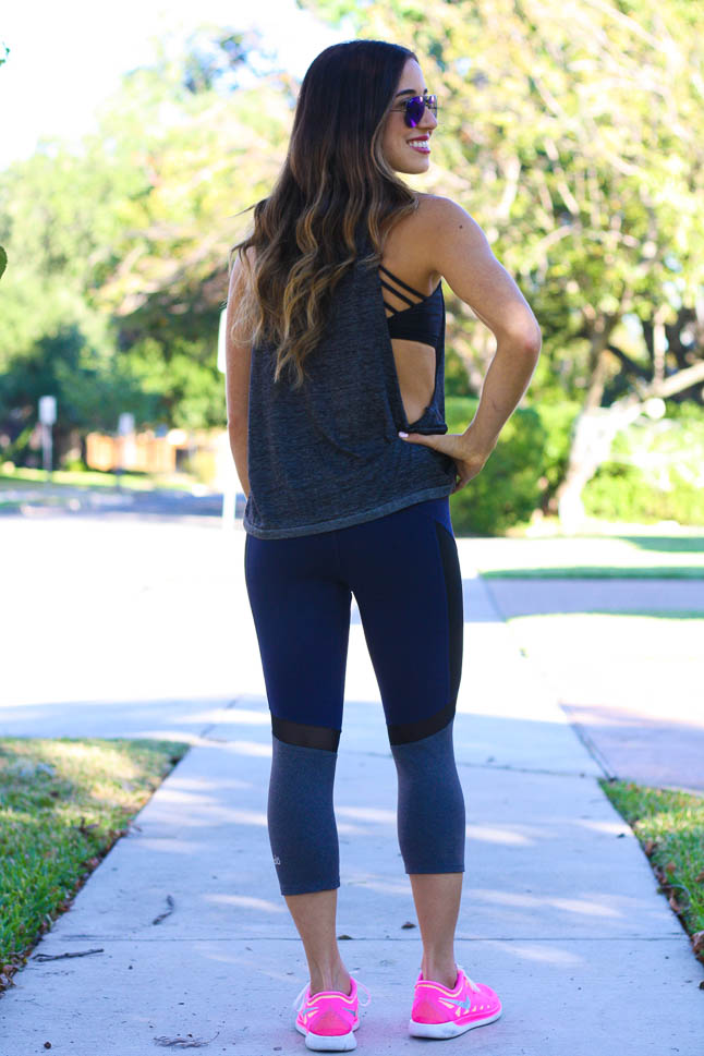Muscle Tank - we love these tanks with some mesh crops for a fun athleisure look| adoubledose.com