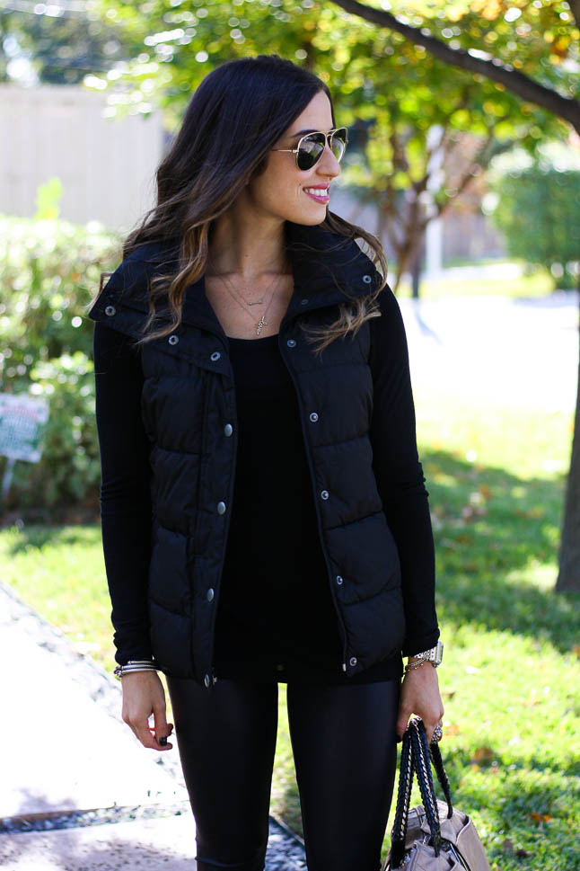 Black Puffer Vest - the perfect vest to keep you warm all winter long | adoubledose.com