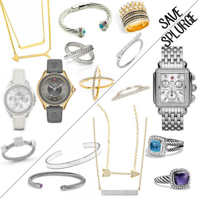 Steal vs. Splurge- our jewels and a steal version of everything we wear plus what we like to splurge vs save on |adoubledose.com