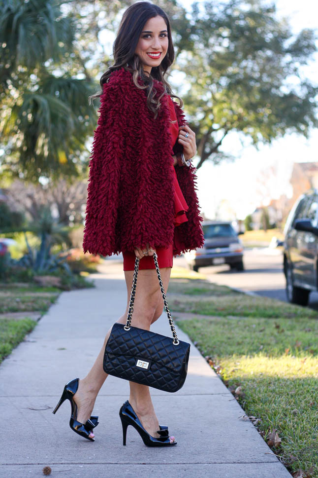Red Ruffle Dress: Valentine's Day Look |adoubledose.com