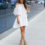 White Lace Off Shoulder Dress
