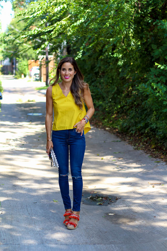 Yellow Bow Top | adoubledose.com