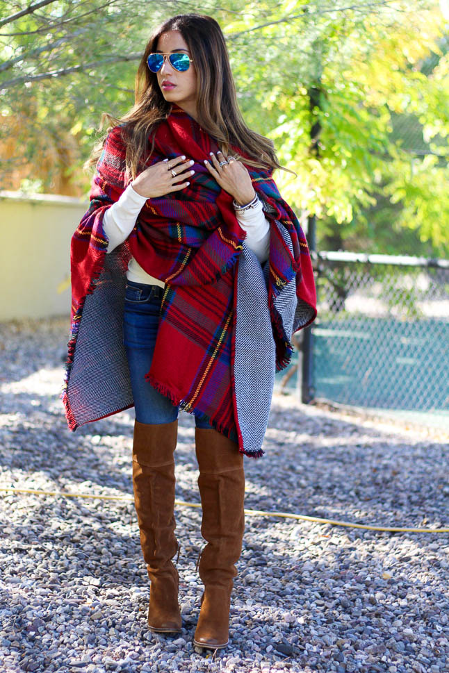 Plaid Reversible Cape | adoubledose.com