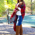 Plaid Reversible Cape