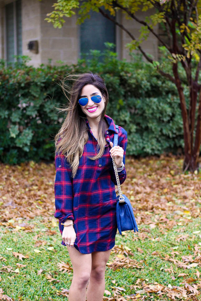 Plaid Shirt Dress | adoubledose.com