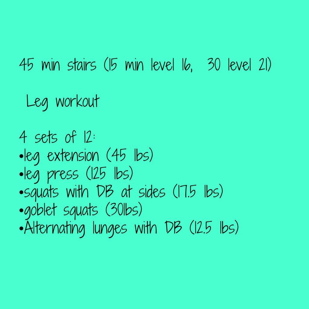 leg workout- a double dose