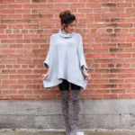 Grey Poncho Sweater
