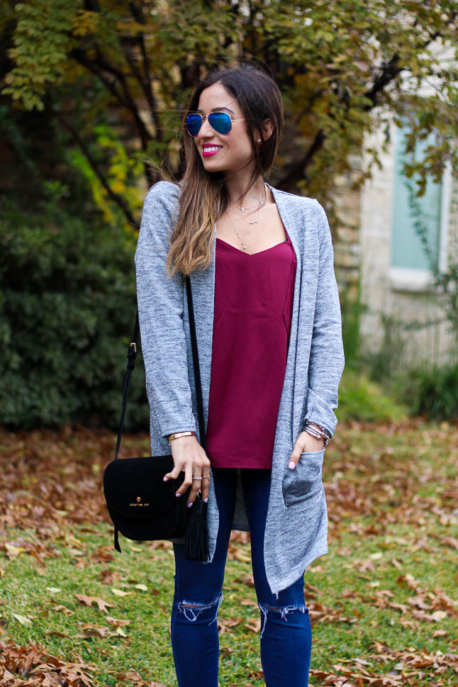How To Style a Grey Long Cardigan