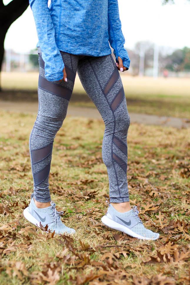 Grey Mesh Leggings | adoubledose.com