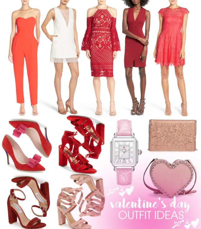 Valentine's Day Outfit Ideas - some valentine's day outfit inspo ranging from lace dresses to comfy pjs! | adoubledose.com