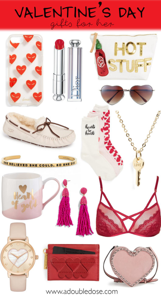 Valentine's Day Gift Ideas For Her | adoubledose.com
