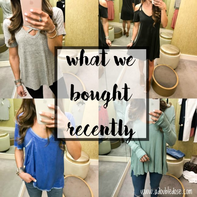 What We Bought and Tried On Recently | adoubledose.com