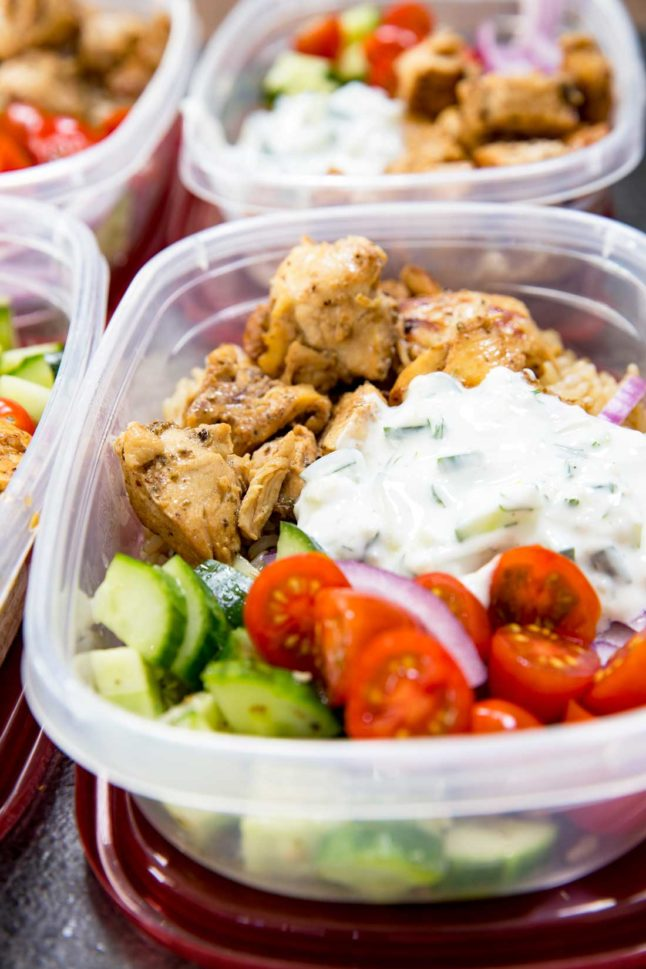 Greek Chicken Bowls - A Double Dose of Fitness | adoubledose.com