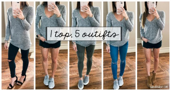 1 Shirt, 5 Styled Outfits | adoubledose.com