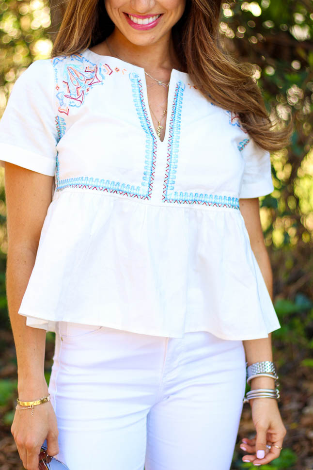 The Must Have Embroidered Top For Spring | adoubledose.com