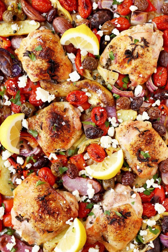 Mediterranean Chicken Thighs - A Double Dose Of Fitness | adoubledose.com