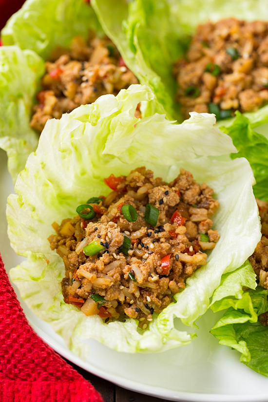 Crockpot Chicken Lettuce Wraps - A Double Dose of Fitness | adoubledose.com