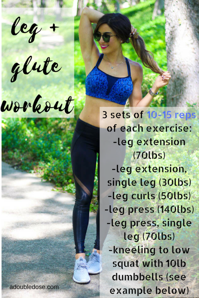 leg + glue workout - A Double Dose of Fitness | adoubledose.com