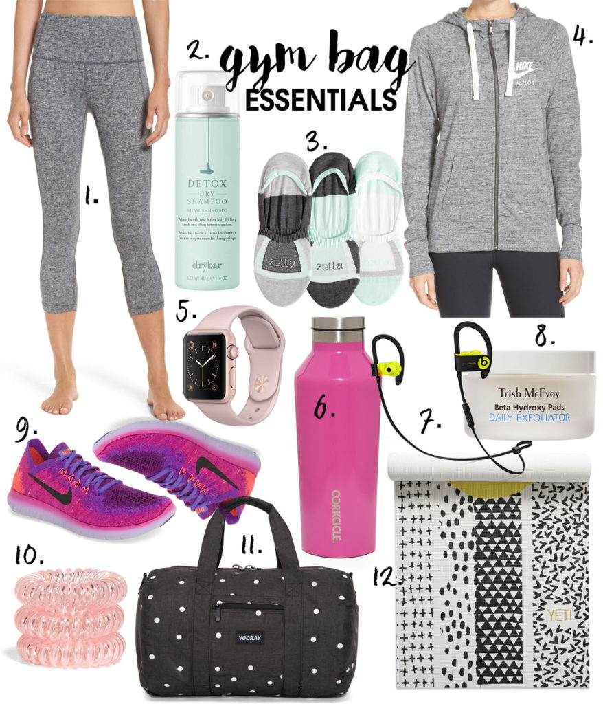 Gym Bag Essentials | adoubledose.com