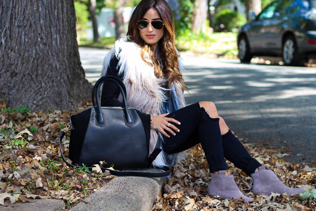 How To Style A Faux Fur Vest | adoubledose.com