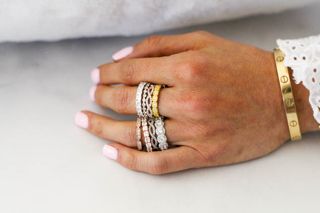 Simulated Diamond Rings Under $99 From Everly | adoubledose.com