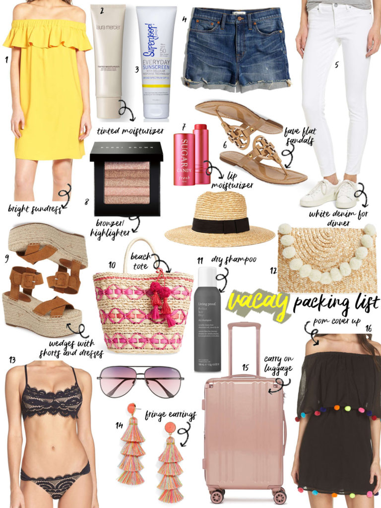 Vacay Packing List