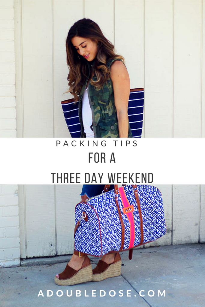 Packing Tips For A Three Day Summer Weekend | adoubledose.com
