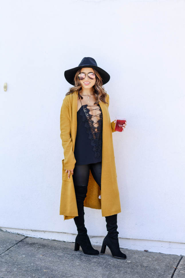 How To Style A Duster Cardigan For Petites | adoubledose.com