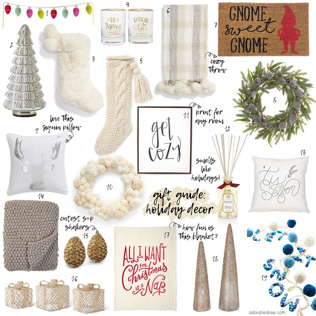 GIFT GUIDE 2018: HOLIDAY DECOR