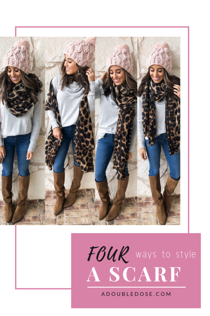 How To Style A Leopard Scarf 4 Ways | adoubledose.com