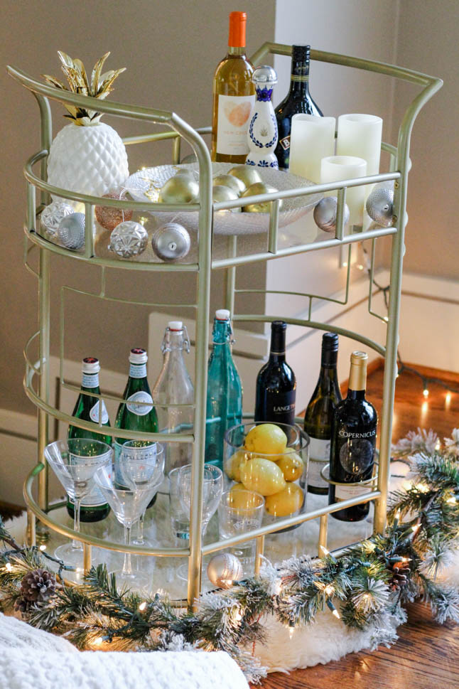 Styling Our First Bar Cart | adoubledose.com