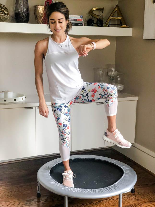 Wellness Wednesday .7: Rebounder Workout | adoubledose.com