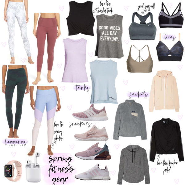 Wellness Wednesday .6: Spring Workout Wear + Weekly Workout Schedule – Updated