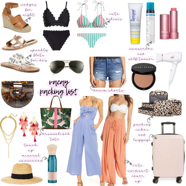 Vacation Packing List For Spring