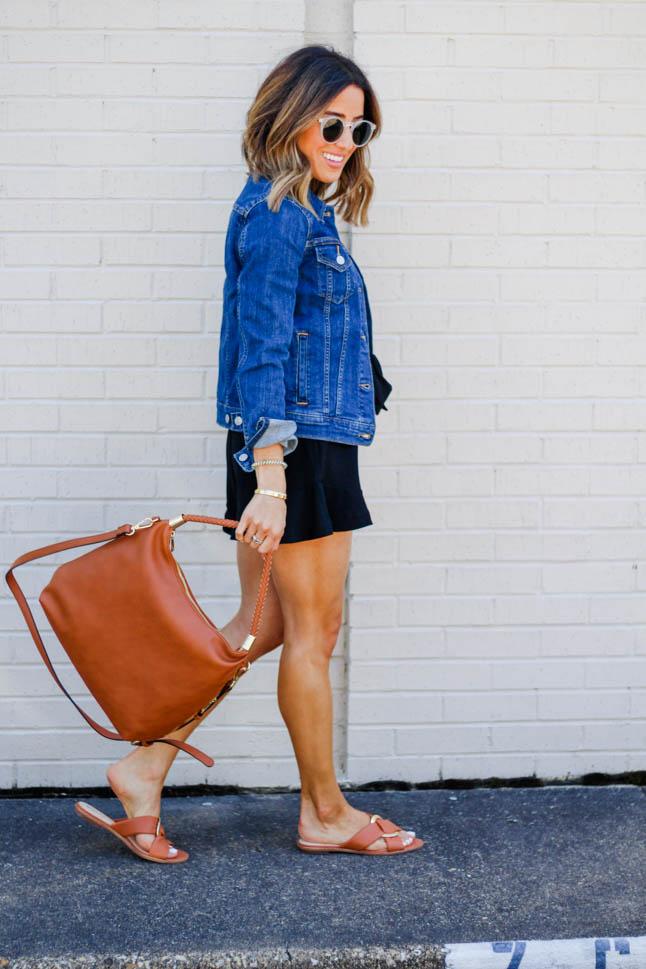 How To Dress Up A Denim Jacket | adoubledose.com