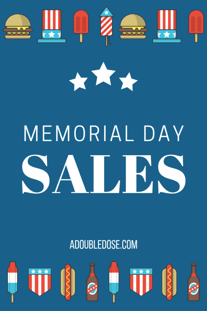 Memorial Day Sales 2019 | adoubledose.com